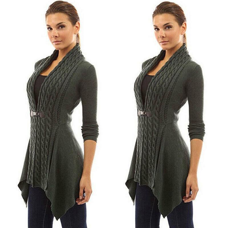 UK Womens Ladies Cardigan Knitwear Jumpers Sweater Coats Long Sleeve Pearl Tops