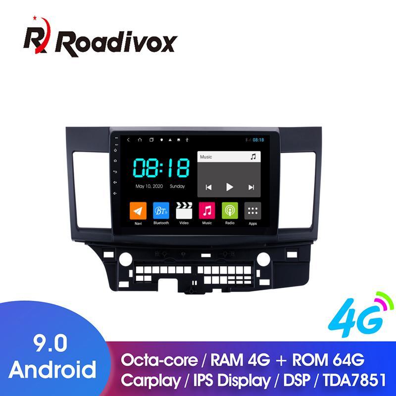 """10,1"""" Android 9.0 4G ROM 64G Para Mitsubishi Lancer 2008-2020 carro DVD GPS unidade multimídia cabeça stereo player de rádio de navegação"""