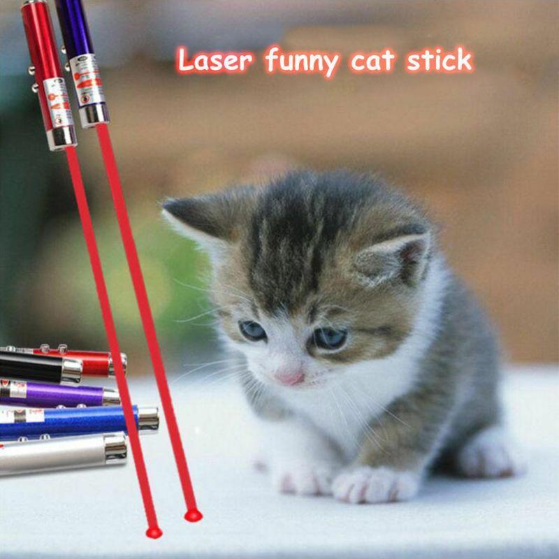 homes2011 juguete Rojo lápiz láser de juguete con LED juguete interactivo divertido láser 5mW gato de luz láser de 650 nm para mascotas Pet Dot Sight Pointer sOntp