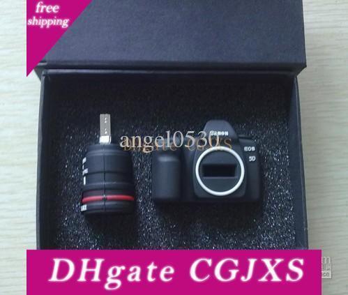 Creative Mini Camera Cute Pig Usb Flash Memory Stick Pen Drive U Disk Real 2gb 4gb 8gb 16gb Box