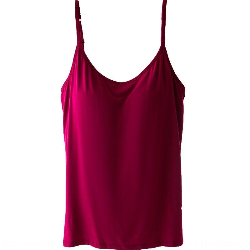 camicia anello modale di grandi dimensioni non in acciaio anello in acciaio con estate delle donne della camicia di base canotta sternale top di media lunghezza