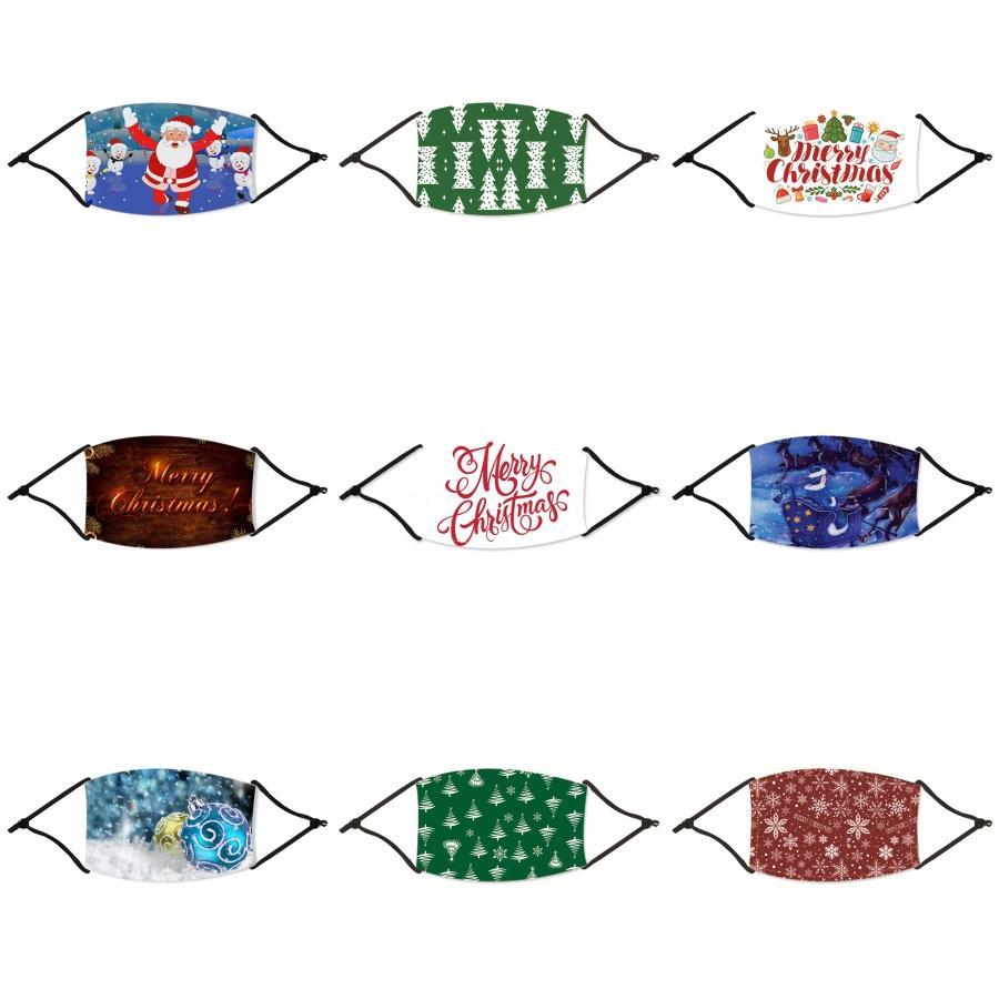 Designer Weihnachten Maske Kundenspezifische Weihnachts Maske Logo Personalisierte Mund Gesicht Weihnachten Maske Black Ice Silk Cotton Breathstaubdichtes Reus # 43433