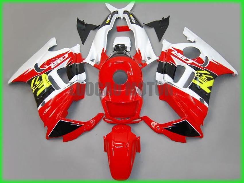 ABS Kalafatlama seti HONDA CBR600 F3 1995 1996 CBR600 95 96 CBR600 F3 95-96 gövde kapağı + ön cam #red BEYAZ # Q723N için + hediyeler