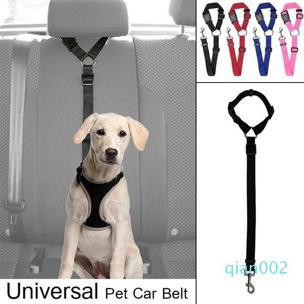 Assento Dog ajustável Belt Dog Harness Pet Vehicle Car Seat Leash Belt Pet cinto de segurança (para cão / gato)