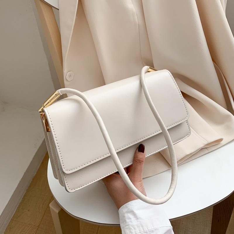 Pequeño frescas y de gama alta populares bolsos de verano bajo los brazos Bolsas 2021 nuevas bolsas de color de las mujeres de doble capa cuadrados macizos de pequeñas bolsas