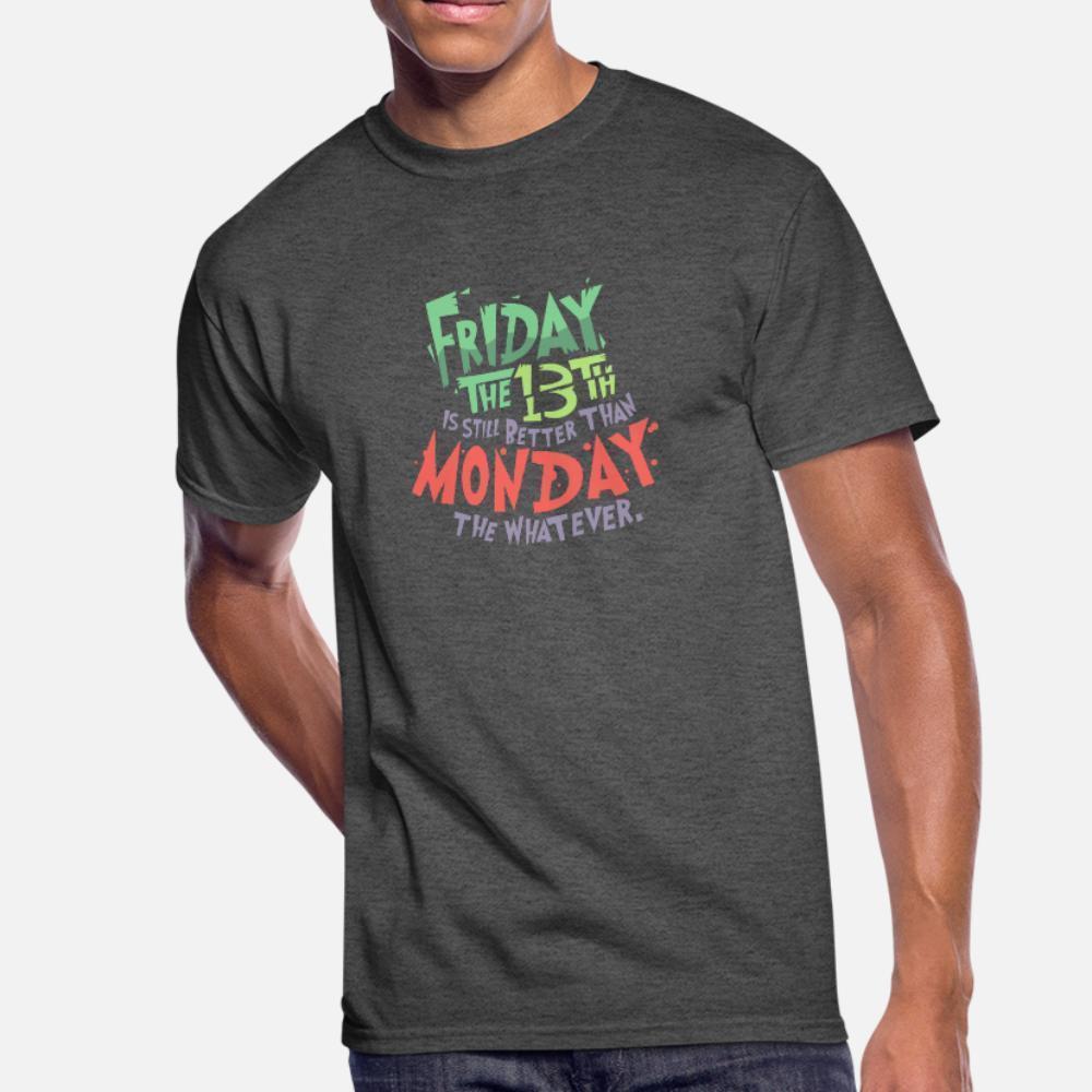 금요일 13 할로윈 스푸키 소름 선물 T 셔츠 남성 100 %면 O-목 원래 안티 링클 패션 여름 스타일 패턴 셔츠 만들기 견적