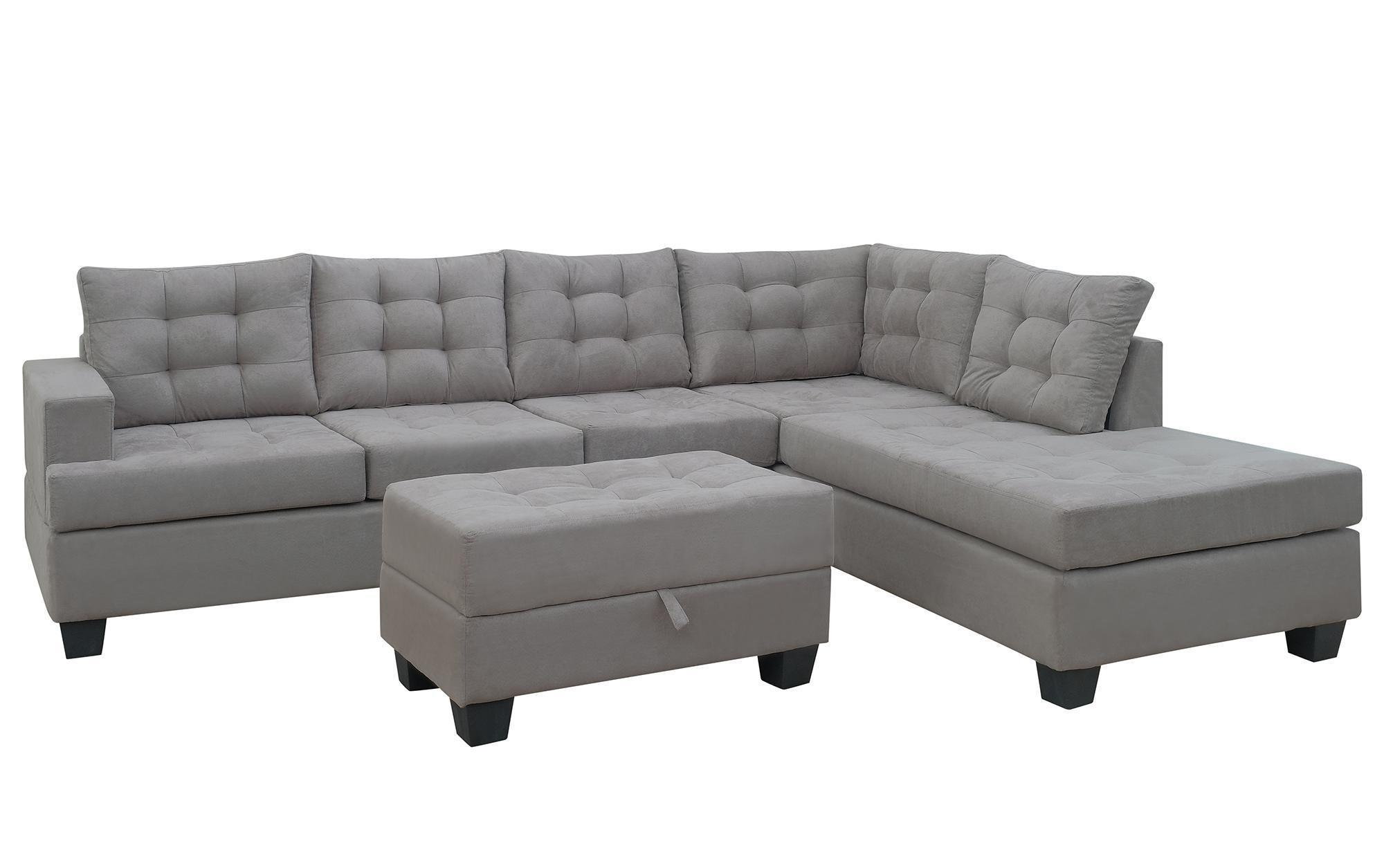 2020 Sectional Sofa With Chaise Lounge And Storage Ottoman L Shape Sofa Couch Living Room Furnituregray Sm000049eaa From Beautydesign 936 34 Dhgate Com