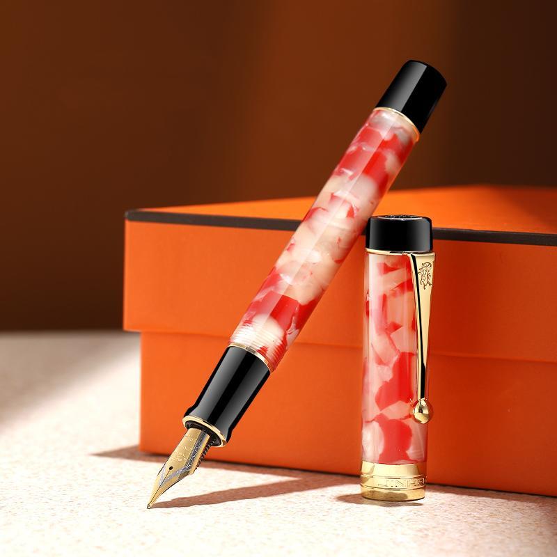 Lusso Jinhao Century 100 Penna stilografica d'oro acrilico 0,7 millimetri clip Pennino Collect penna Business ufficio tinteiro caneta