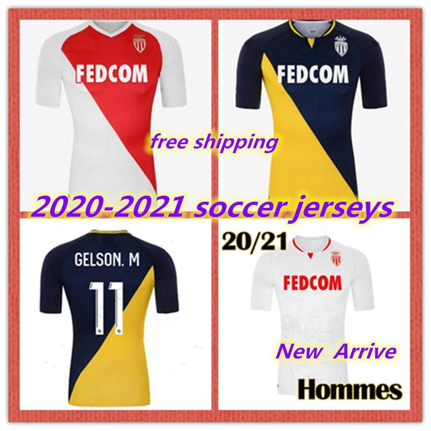 2020 2021 de calidad superior AS Monaco BEN Yedder fútbol jerseys JOVETIC golovin 20 21 maillot de pie camiseta de fútbol Flocage JORGE Hombres Niños