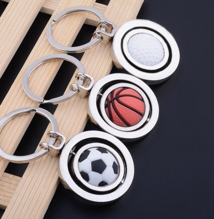 Cup-Geschenke Schlüssel Fußball-Anhänger Basketball Fußball Kette Kette Schlüssel Keychain Golf-Anhänger Rotating Welt dayupshop hoHPF