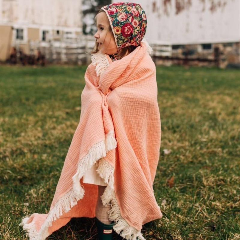 Newborn Baby Girls Boy Swaddle Wrap Blanket Muslin 100% Cotton Sleeping Mat