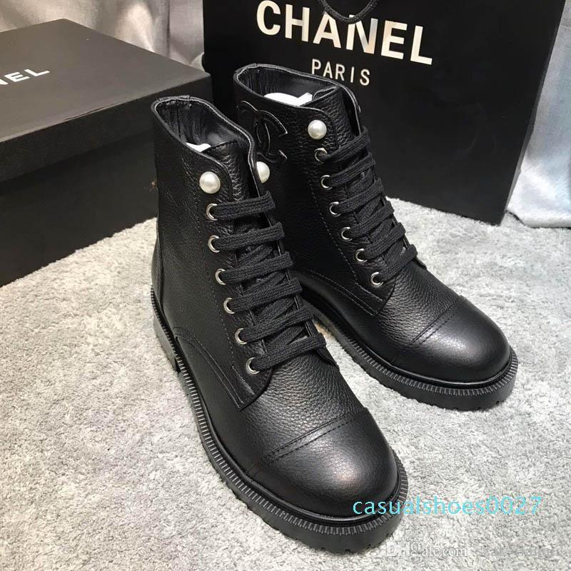 2020 yeni moda lüks bayanlar kısa botlar rahat deri kadın kısa botlar Renk motosiklet Martin botları boyutu 35-41 C27 şık