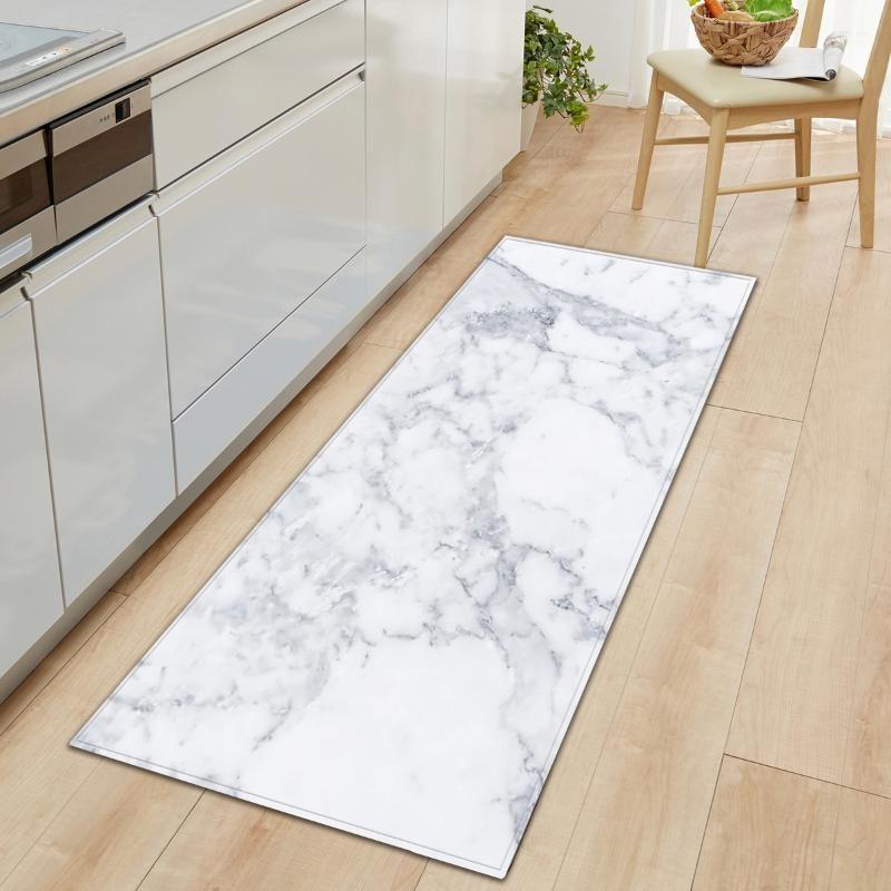 El modelo de mármol Impreso estera del piso de la cocina no Slip tapetes para Living Rooms Puerta alfombras de entrada decoración Alfombra Alfombra Nueva