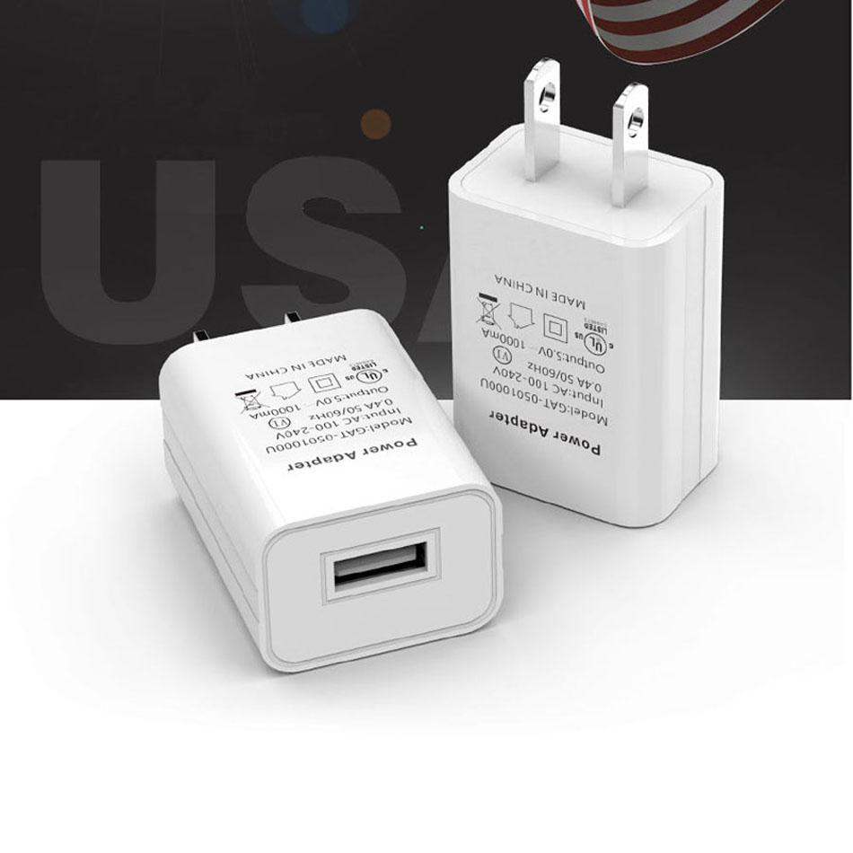 Caricabatterie da parete USB da 5 V 1A UL / FCC / CE Adattatore portatile da viaggio portatile per telefoni cellulari mobili caricabatterie universali