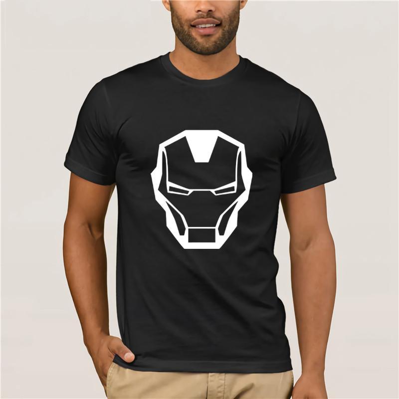 Mode-T-Shirt aus 100% Baumwolle Marvel Iron Man Printed lässiges T-Shirt Sommer-T-Shirts für Frauen Harajuku Stil Baumwolle T-Shirt Trend