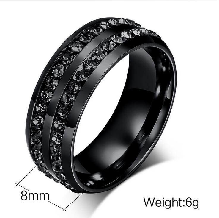 Junerain Größe 8-13 His and Hers klassische Schmucksachen 10KT Black Gold FilledStainless Stahl 5A Zirkonia CZ Frauen Männer Wedding Couple Ring