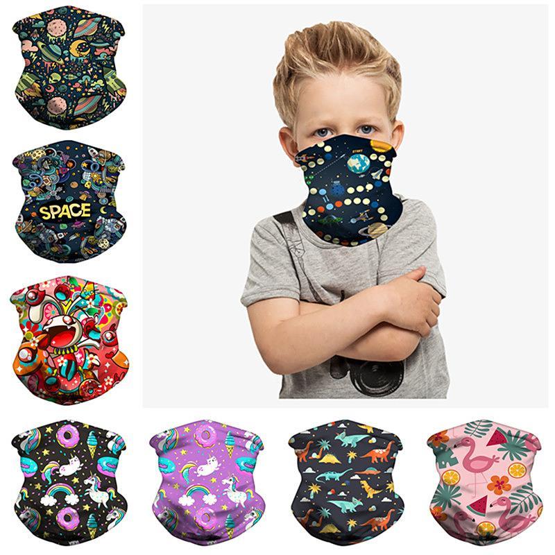 Magic Kids sciarpe di modo di stampa sciarpa Bandane bambini Buff esterna di protezione del lato dello schermo antivento Maschera Ciclismo Copricapo INS