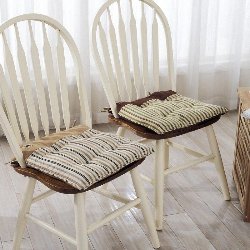 Soft comedor silla sillas cojines Sentado colchón silla de la computadora de oficina cojín del asiento del amortiguador del cojín Comedor estera del cojín cuadrado de 40 cm dzko #