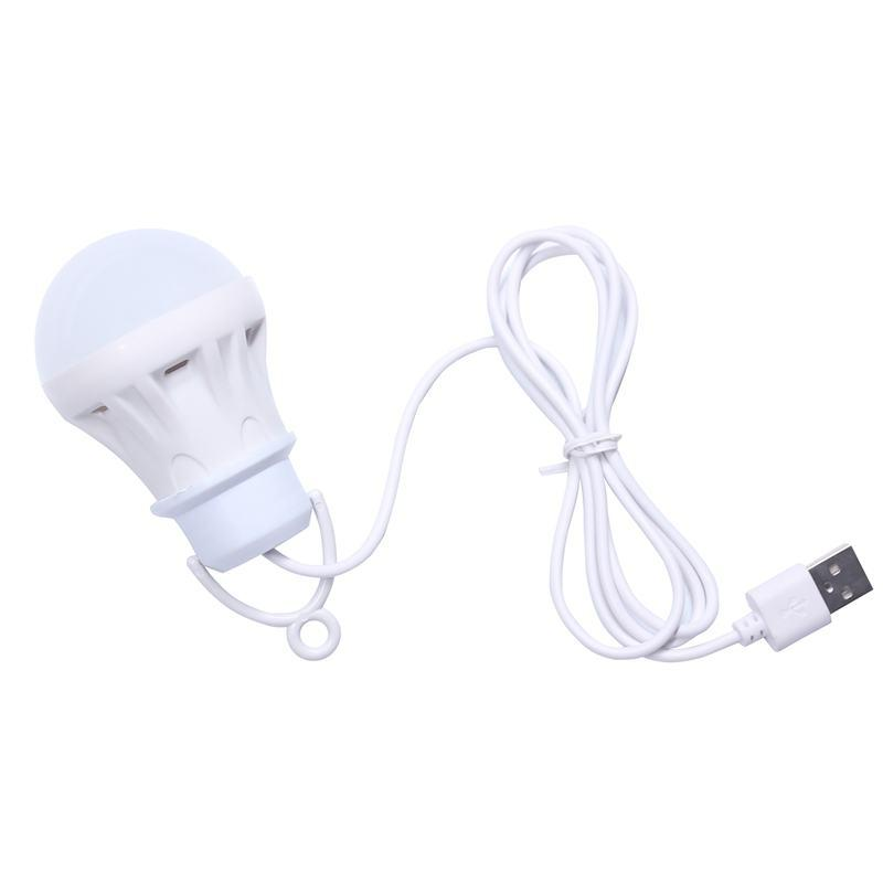 3V 3W Usb Bulb Light Portable Lamp Led 5730 For Hiking Camping Tent Travel Work With Power Bank Notebook with USB socket