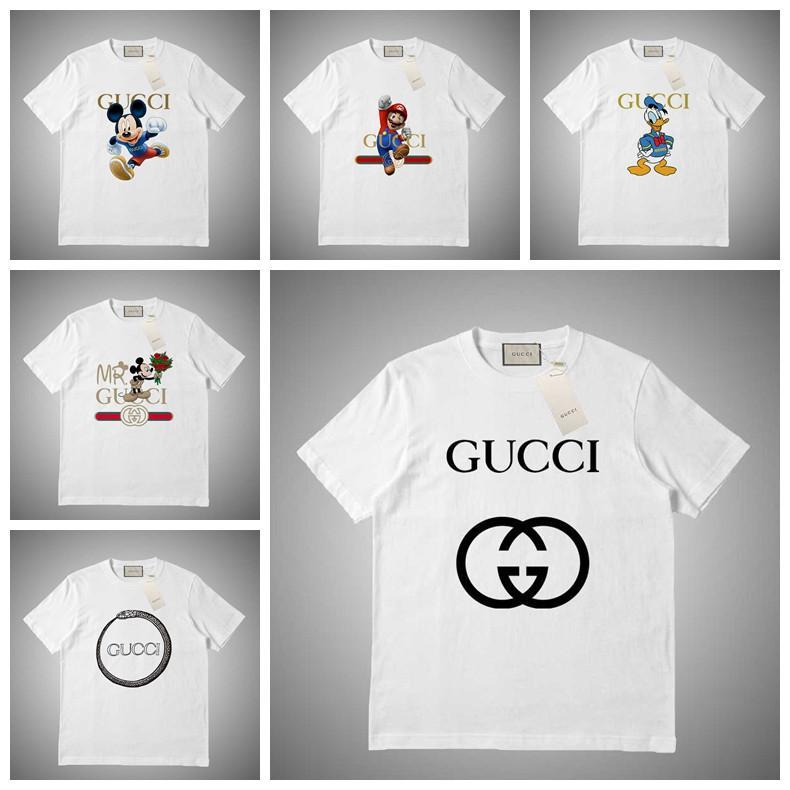GUCCI Moda estate Mens Stylist magliette Moda Uomo Donne Stylist manica corta Lettera Ptint maglietta di formato S-XXL