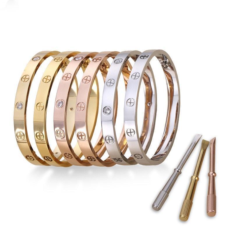 LOVE Five Generation High Quality Titanium Steel Couple Bracelet 18k Rose Gold Screwdriver Bracelet Supply Wholesale