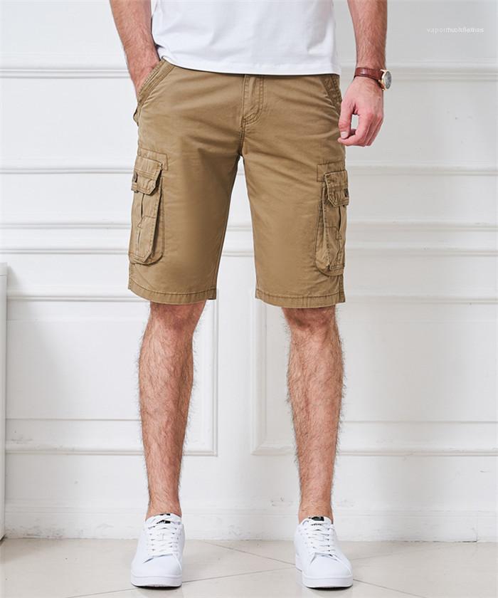 Zipper Fly Mens Short Pants Plus Size Beach Mens Casual Shorts Summer Knee Length