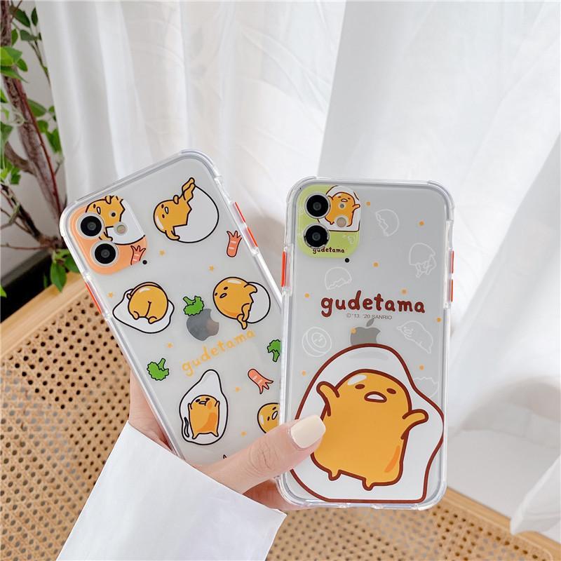 Komik Yumurta Desen Telefon Kılıfı için Iphone SE 2020 7 8 Plus X XR XS Max Sevimli Yumuşak Kapak Iphone 11 Pro İyi Kalite için