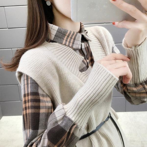 Graceful maglione lavorato a maglia vestito a due pezzi 2020 di invecchiamento autunno nuovo temperamento moda stile occidentale moda Thailandia maglione vestito b9yFn
