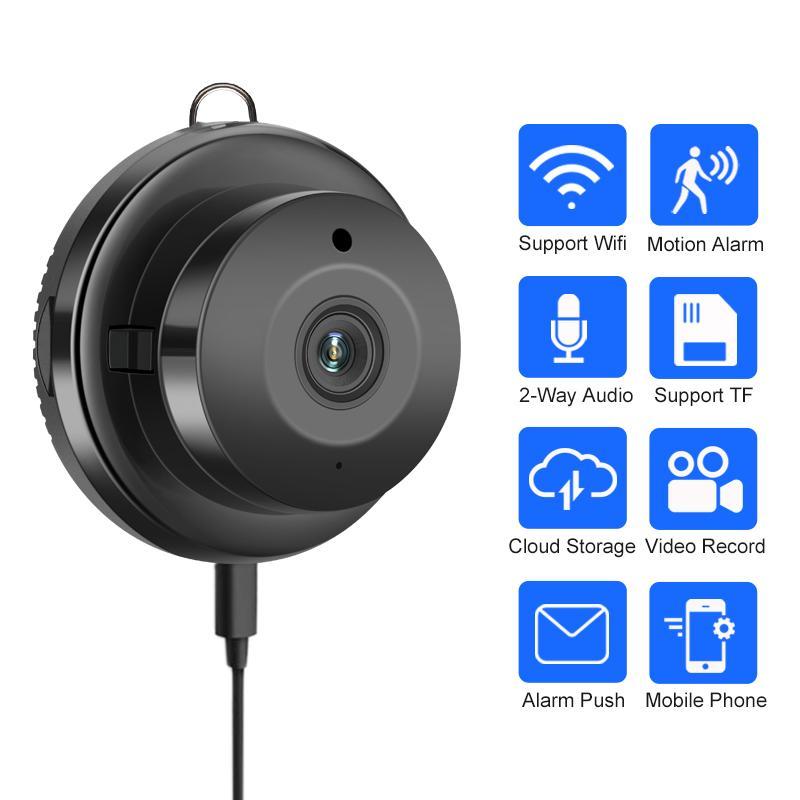 Беспроводная мини-камера WIFI облако Малый IP камера 1080P инфракрасного ночного видения Baby Monitor CCTV безопасности движения SD карты обнаружения
