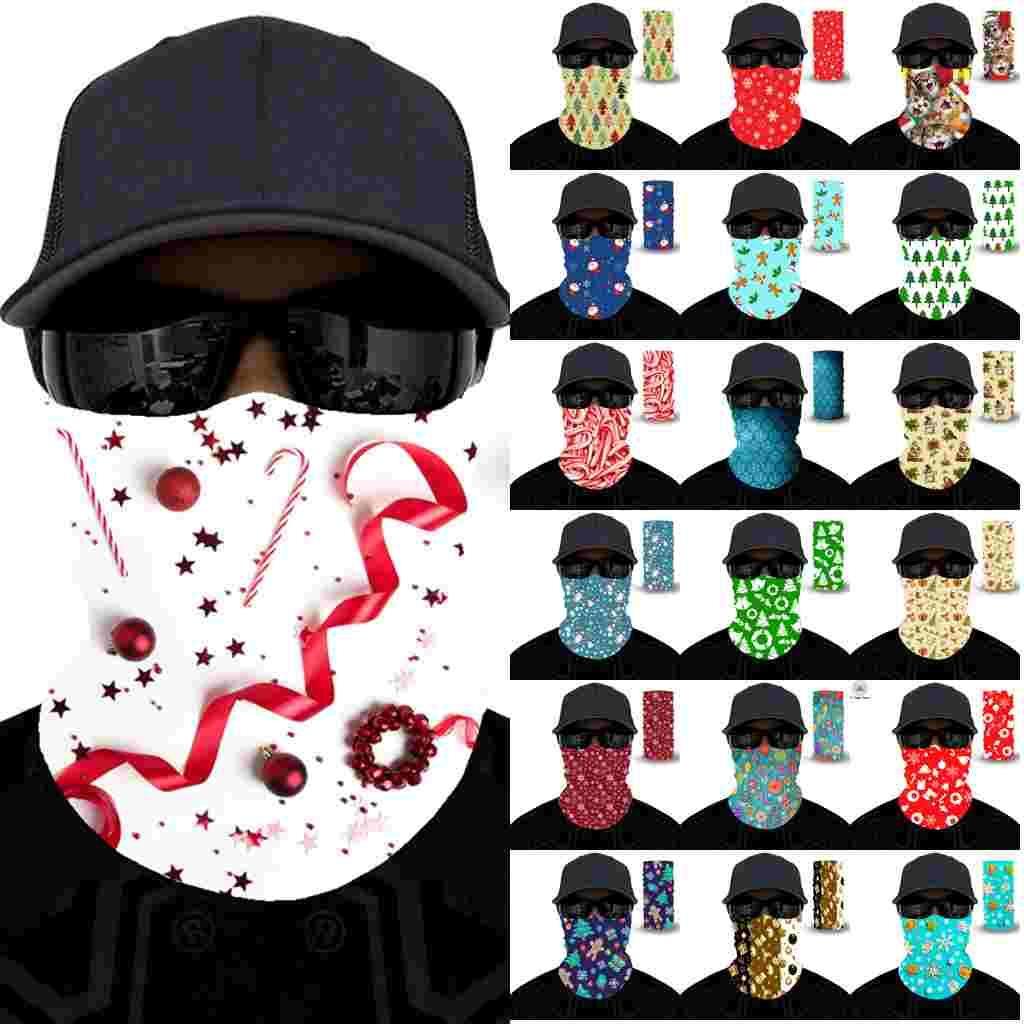 US Ship Unisex Volwassenen Kerst Gezicht Masker Sjaal Celebrity Hoofdband Magic Maskers voor Ski Motorfiets Fietsen Vissen Buitensporten FY6094