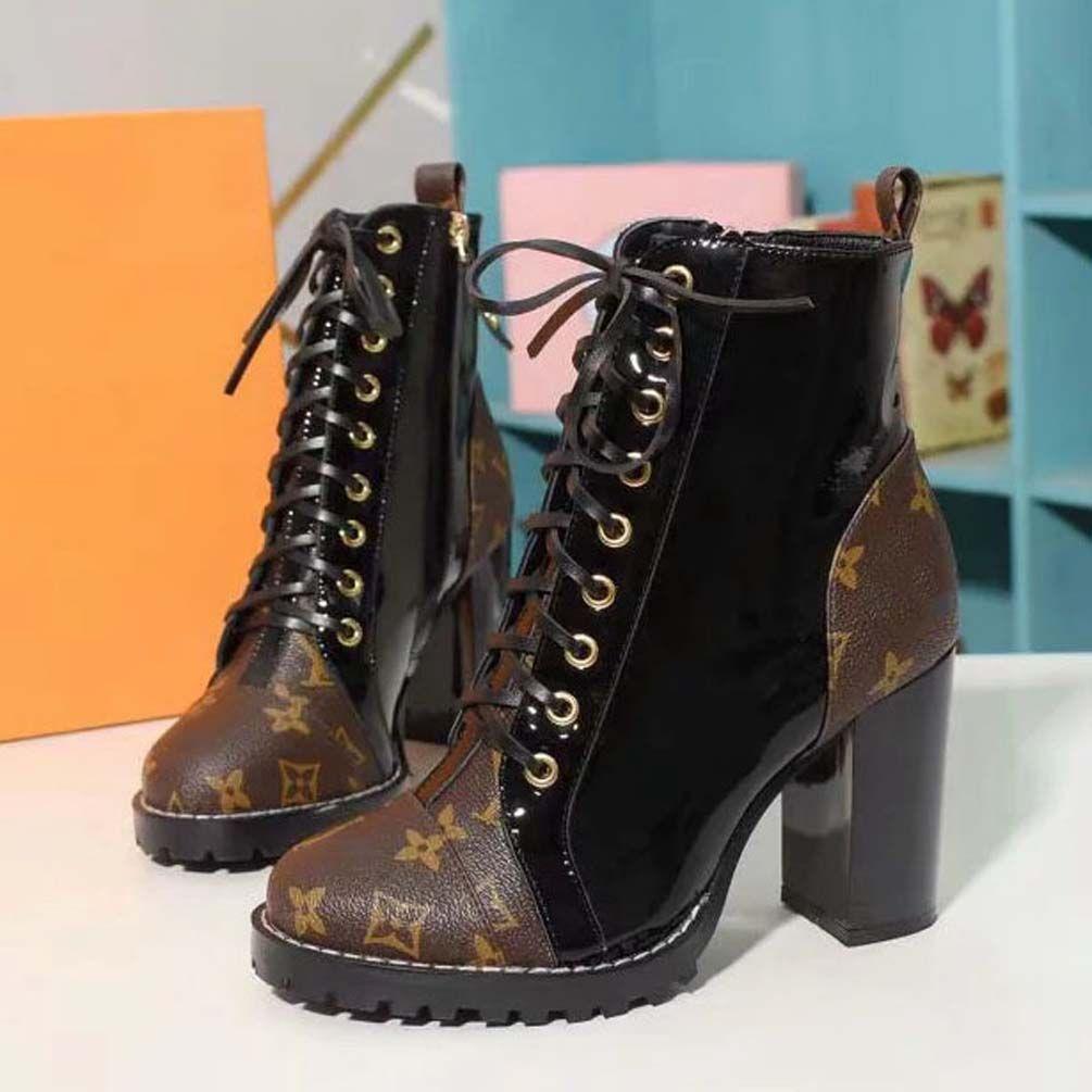 Moda deri yıldız bayan ayakkabı kadın deri kısa sonbahar kış ayak bileği moda marka kadın botları 05 L049