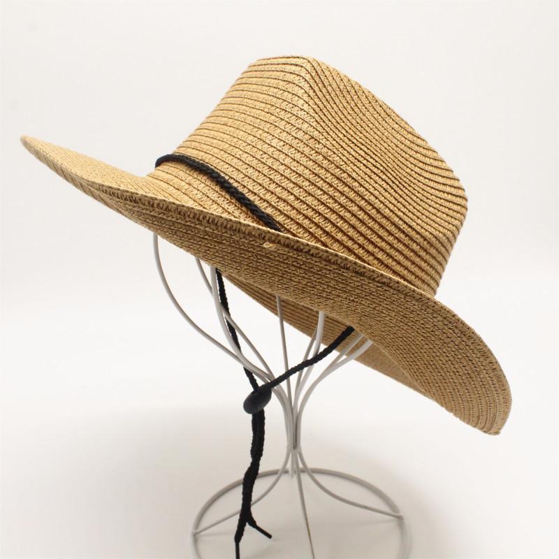 adam plajda güneş saman Panama şapka Toptan ve perakende için kadın moda caz saman için oZyc Yaz gündelik güneş şapkaları