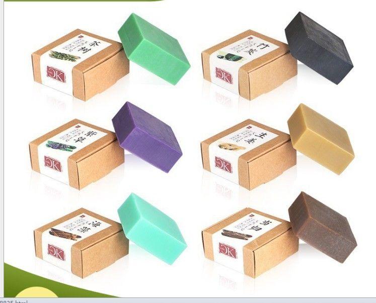 도매 대나무 숯 제 비누 허벌 에센스 페이셜 클렌징 오일 비누 목욕 비누 OEM의 10 개 판지