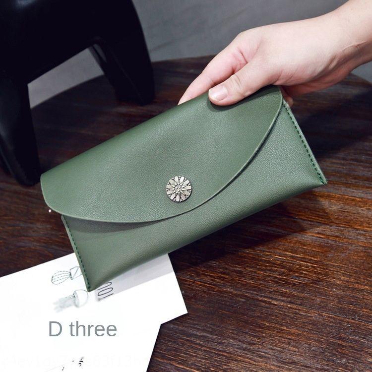 2019 осенью и зимой Новая мода модно длинная рука маленькая хризантема Портмоне женские сумки кошелек кошелек сумка DMOvb