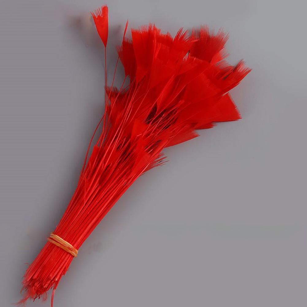 100Pcs Dekoration Rooster Tail Feather Craft Herstellung von Hüten Posamenten Partei Bänder