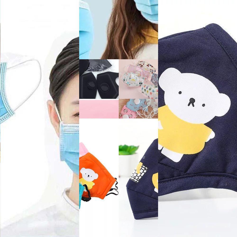 Reniflard pur coton Filtre adulte Masque réutilisable lavable Valve enfants antipoussière de la APIY1