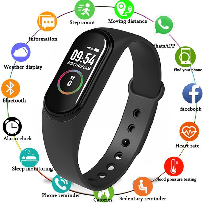 Pressione M4 Banda Braccialetti Fitness Tracker intelligente orologio salute del cuore Vota Sangue relogio monitor del braccialetto di Bluetooth di sport