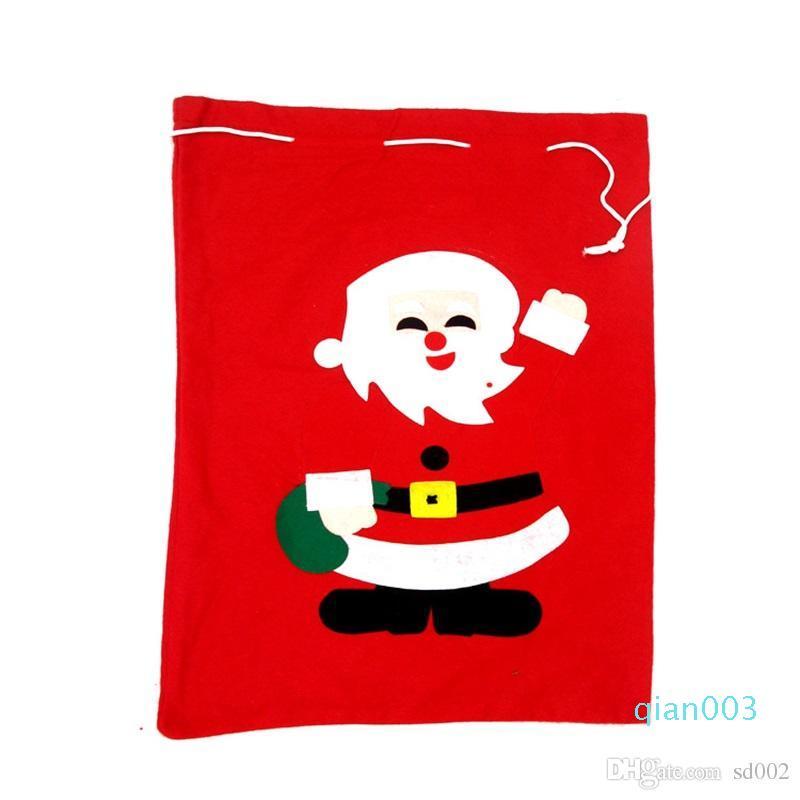 Gift Bag Babbo Natale Borse Buon Natale Decorazioni gran numero Red accogliente Sack bambini Favor Gioia presenta i regali 5BX gg