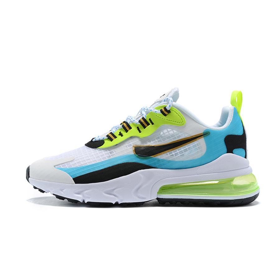 Mens Reagir V2 Visão Running Shoes Branco Azul Preto Mulheres Ins Designer Qualidade sapatilhas clássicas Trainers alta Tamanho 36-46