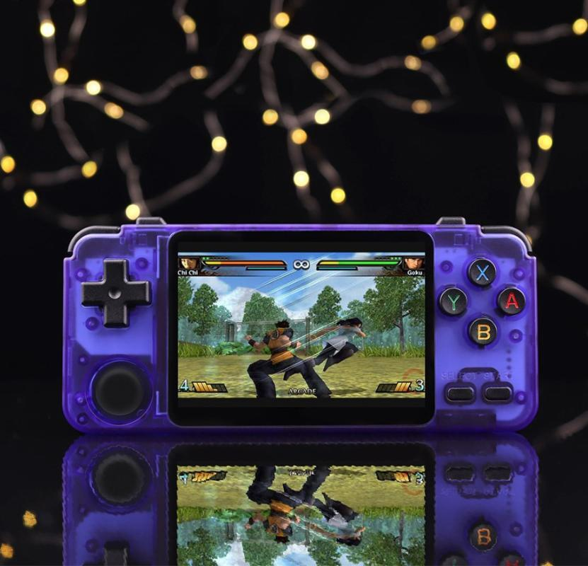 New RK2020 Retro Game Player 3.5 inch IPS screen Handheld Game Player GB N64 CPS3 128G Gaming Console SNES MD Machine Box