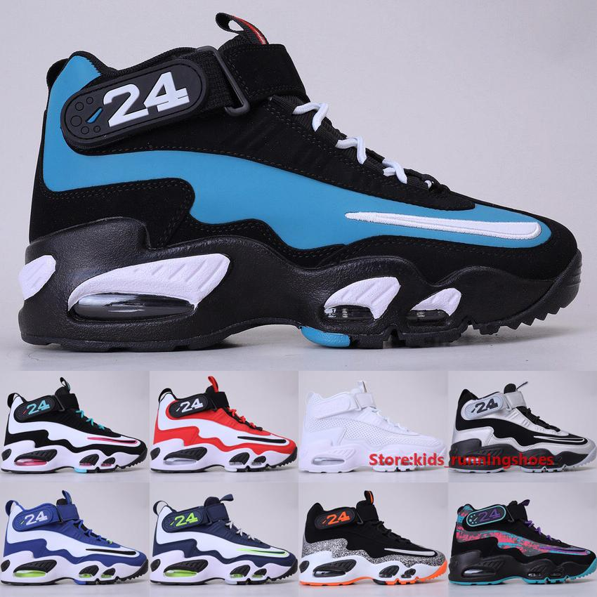 Nike Air Griffey Max 1 Freshwater Baseball Chaussures 2020 Triple Blanc Université Rouge Royal Midnight Navy Hommes Chaussures De Basket-ball Taille 40-46