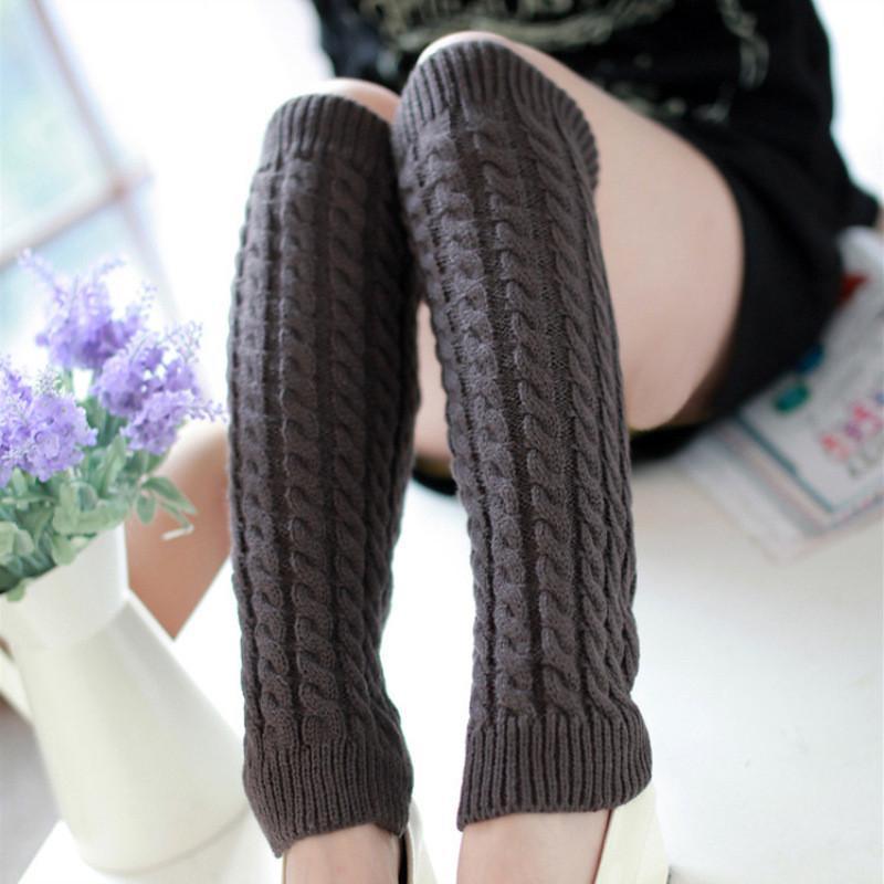 Braid Вязать Гетры крючком гольфы tockings поножи носки женщин мода осень зима носки чулочно-носочные изделия