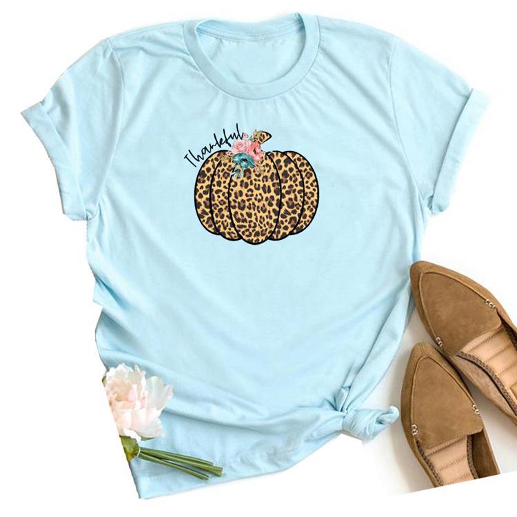 Causal Camiseta para mujer camisetas de Halloween Top camiseta de las mujeres calabaza Imprimir hembra de la camiseta
