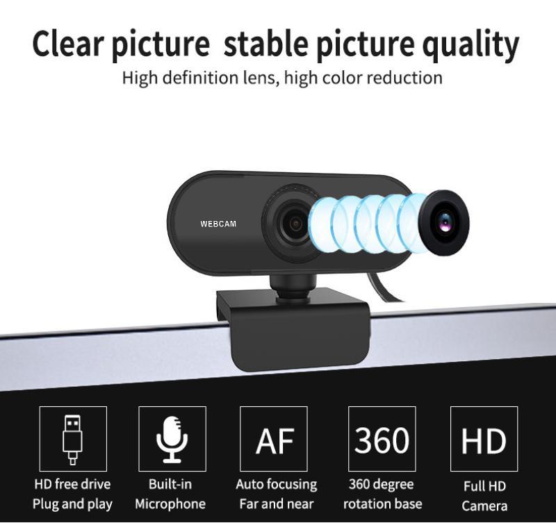 2K Full HD USB веб-камера Автофокус Встроенный микрофон высокого класса Видеозвонок камеры Компьютерная периферия Веб-камера для портативных ПК