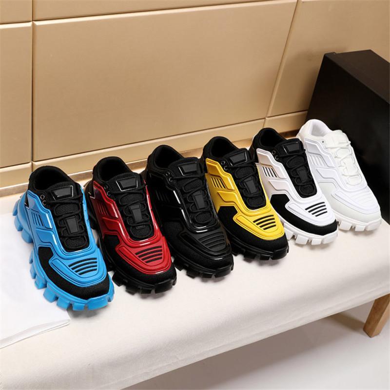 Casual Shoes 19FW nova Capsule Series Camuflagem preto do estilista Shoes Lates P Cloudbust Trovão Lace up Plataforma top de borracha sapatos baixos