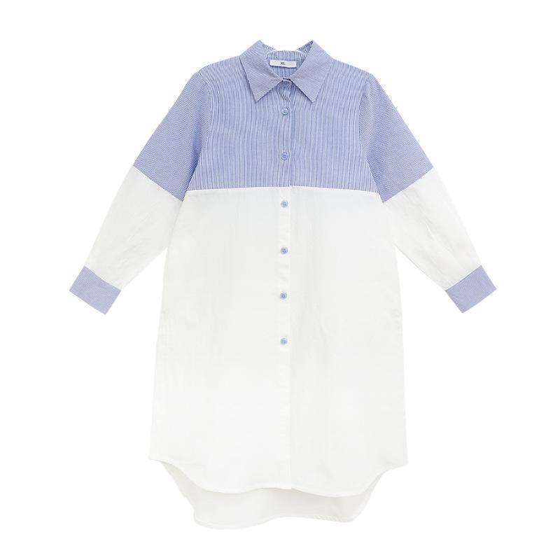 2020 Autumn Cotton Teen-Kind-Kleid-Kind-Mädchen-lange Kleid Baby-Streifen-Patchwork Mädchen Mutter und Tochter Kleidung,