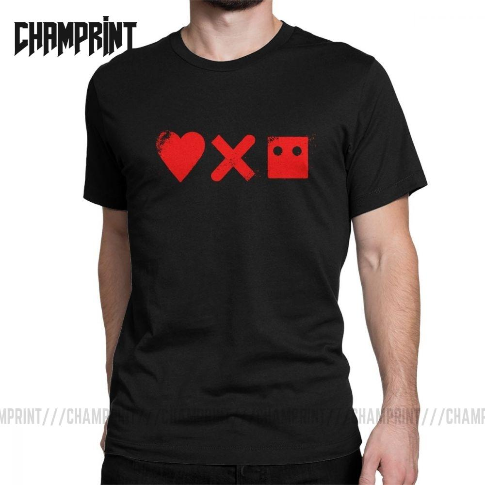 Los hombres aman la muerte Robots T Shirt 100% del collar de la vendimia Ropa de algodón ronda camiseta de manga corta camisa de la idea del regalo camisetas más el tamaño
