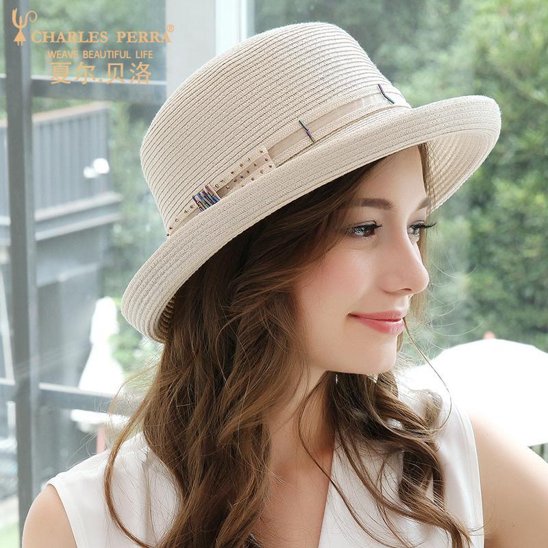 Sunhat Женский отпуск Visor Соломенная шляпка отдыха Защита от солнца летом Женская Шляпы дышащий корейской версии Travel Beach Cap H209