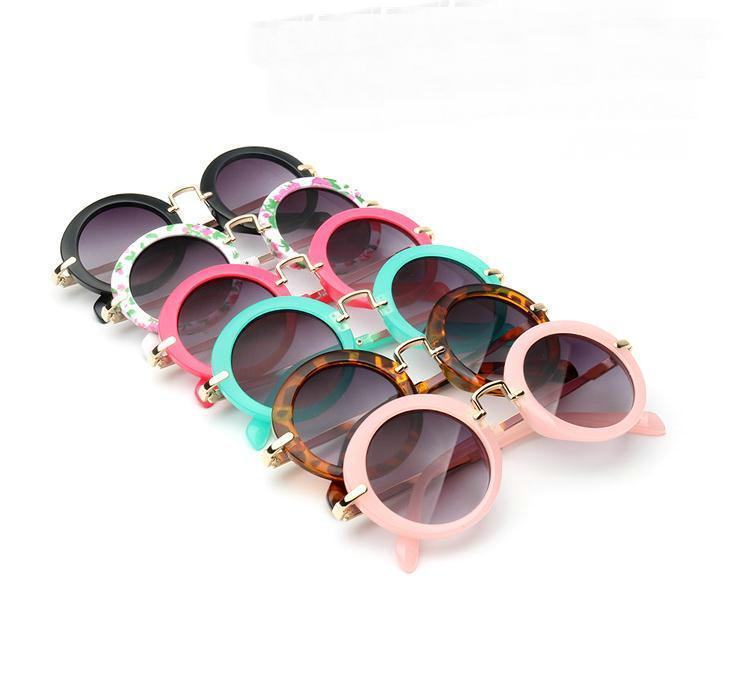 Kinder Retro Sun Shades Säuglingsbrille Brillen Sunglass Jungen-Mädchen-Kind Runde Sonnenbrille Brillen 6 Farbe