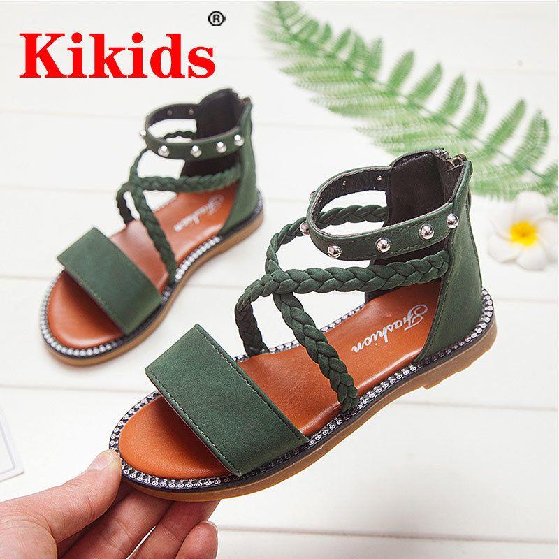 Детские кожаные ботинки для девочек обувь лета малышей Детские сандалии Skidproof Малыши Младенец Дети Бежевый Лето LJ200826